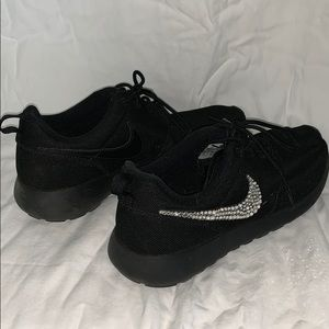 Black Nike Roche with Bling!
